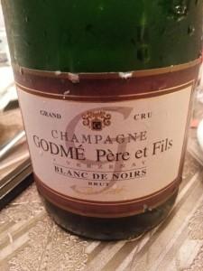 NV Godme Champagne Brut Blanc de Noirs Grand Cru