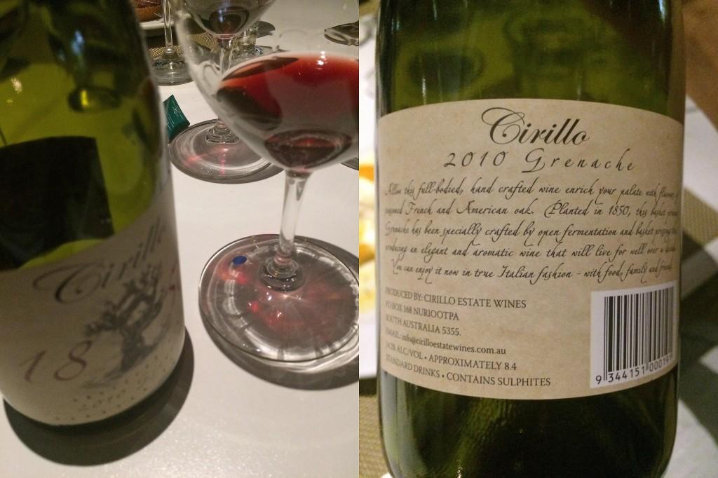 2010 Cirillo 1950s Grenache